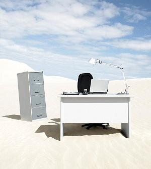 deserted desk